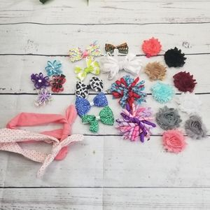 Other - Lot of 24 Bows, Hair Clips, and Headbands